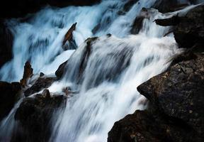 Detail of a stormy mountain stream photo
