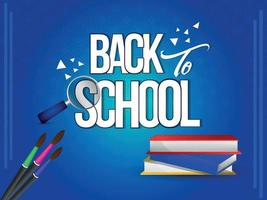 Back to school background vector