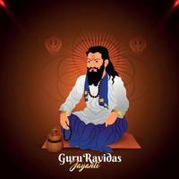 Happy guru ravidas jayanti background vector