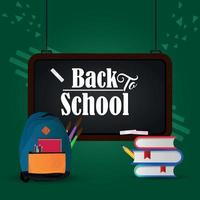 Back to school background with creative equipment vector