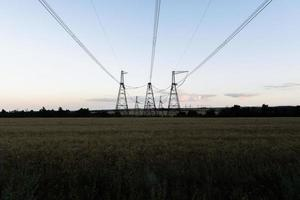 High-voltage power line photo