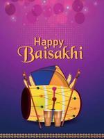 Happy vaisakhi banner or poster vector