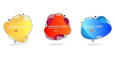 Modern abstract banner set. Flat geometric liquid form with various colors. Modern banner template. eps 10 vector