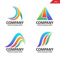 Collection Colorful initial A letter logo design template vector