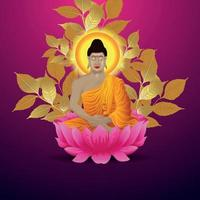Mahavir jayanti background with creative illlustartion of mahavir vector