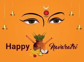 Happy navratri celebration background vector