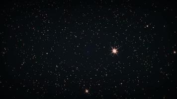 estrelas do céu ampliam e giram em loop de animação de rotação