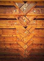 Detail of a beam truss roof