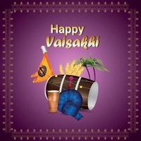feliz concepto de diseño de vaisakhi vector