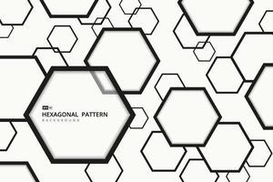Abstract hexagonal pattern design of cover art background. illustration vector eps10