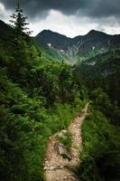 Dramatic mountain landscape photo