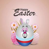 Happy easter day banner or greeting card vector
