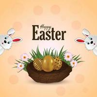 Happy easter day background vector