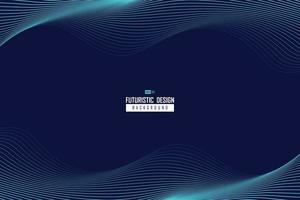 Abstract wavy blue line design of technology pattern movement background. illustration vector eps10