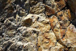 roca de granito rústico foto