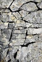 Limestone fissure cracks photo