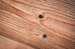 Old sanded wooden board with grooves photo