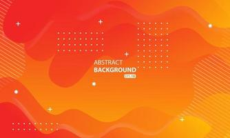 Abstract orange liquid color background.Wavy geometric background.Dynamic textured geometric element design. vector