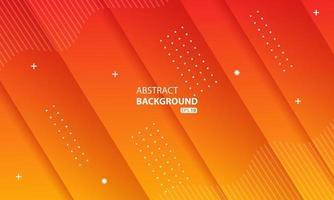 Fondo de color líquido naranja abstracto Fondo geométrico ondulado Diseño de elemento geométrico texturizado dinámico. vector