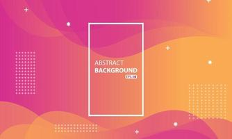 pink and orange liquid color   background.Wavy geometric background.Dynamic textured geometric element design. vector