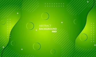 Minimal geometric green background. Dynamic shapes composition. vector