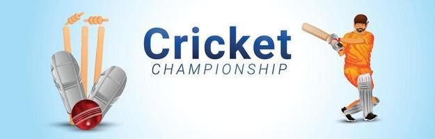 fondo de la liga del campeonato de cricket vector