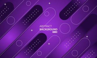 Minimal geometric purple background. Dynamic shapes composition. vector