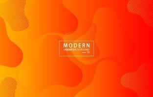 Orange Modern liquid color background.Wavy geometric background.Dynamic textured geometric element design vector