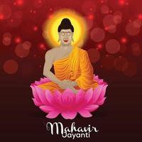 Happy mahavir jayanti celebration background vector