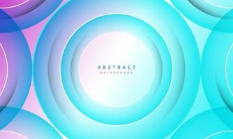 Gradient background. Abstract circle paper cut smooth color composition. vector