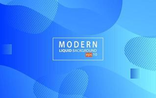 Fondo de color líquido moderno azul Fondo geométrico ondulado Diseño de elemento geométrico con textura dinámica vector