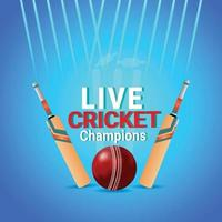 Cricket world championship match with cricket players vector