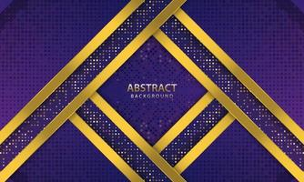 Dark blue abstract background. texture with line gold and glitters decoration. Realistic vector illustration.