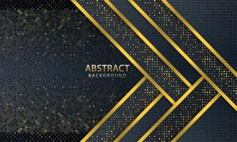 Abstract dark background with gold line design modern. vector illustration.