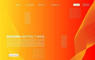 Modern abstract wave background.Landing page abstract wave design. orange background. vector