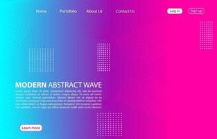 Colorful Modern abstract wave background.Landing page abstract wave design. purple color background. vector