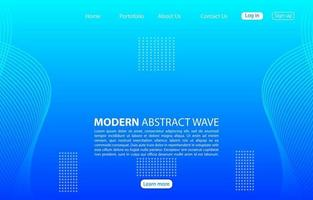Modern abstract wave background.Landing page abstract wave design.Blue Template apps and websites. vector