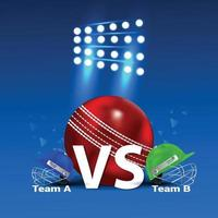 Cricket championship tournament  stadium background vector