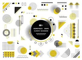 Abstract yellow gray and black geometric shape of modern elements cover design. illustration vector eps10