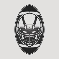 pelota y casco de futbol americano vector
