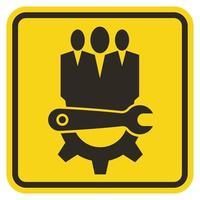 Symbol Service Tool, Maintenance worker label vector