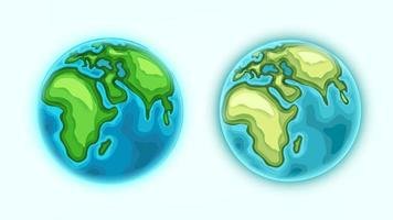The Earth vector clipart. Isolated on white collection