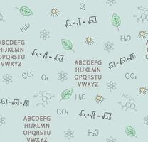 School subjects vector illustration seamless pattern. Perfect for wallpaper, background, fabric or books.