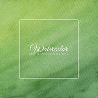 Fondo de textura de acuarela abstracta en color verde vector