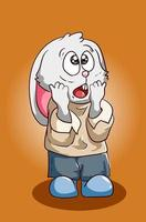 The shock ugly rabbit illustration vector