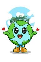 Love the earth vector illustration