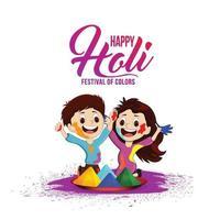 ilustración creativa de la feliz celebración holi vector