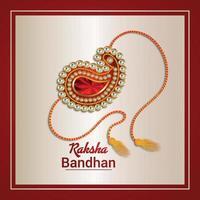 Realistic rakhi for indian festival celebration happy raksha bandhan vector