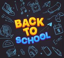 Back to school special offer. Vector banner