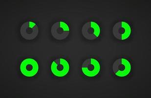 Plantilla de precargador de aplicaciones web y móviles aislada sobre fondo oscuro vector